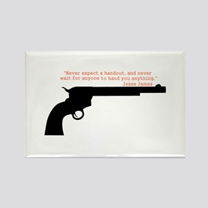 Jesse James Quote Rectangle Magnet