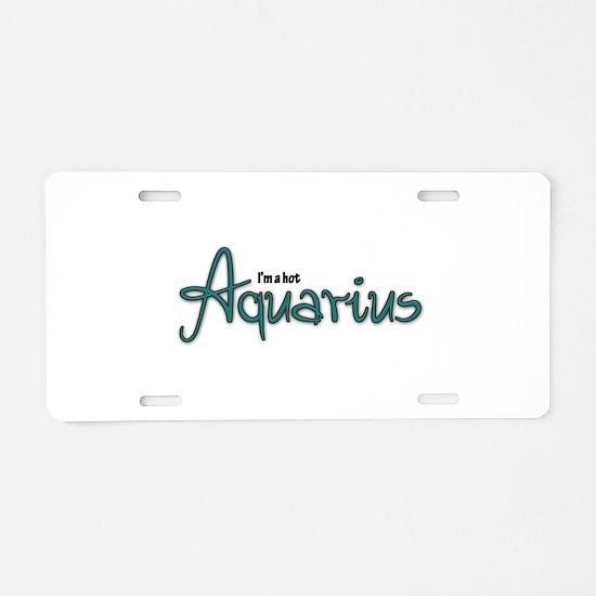 Unique Aquarius Aluminum License Plate