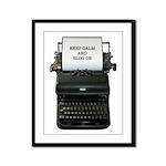 Keep Calm And Blog On typewriter Framed Panel Prin
