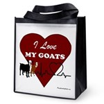 I Love My Goats Reusable Grocery Tote Bag