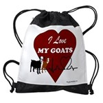 I Love My Goats Drawstring Bag