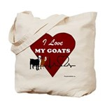 I Love My Goats Tote Bag