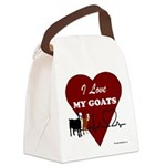 I Love My Goats Canvas Lunch Bag