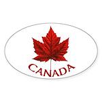Canada Maple Leaf Souvenir Sticker (Oval 50 pk)