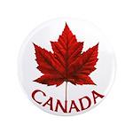 """Canada Maple Leaf Souvenir 3.5"""" Button (100 pack)"""