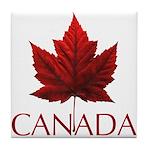 Canada Maple Leaf Souvenir Tile Coaster
