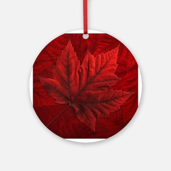 Canada Souvenir Round Ornament