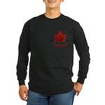 Canada Maple Leaf Souveni Long Sleeve Dark T-Shirt