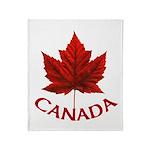 Canada Maple Leaf Souvenir Throw Blanket