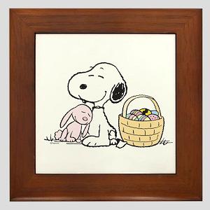 Beagle and Bunny Framed Tile