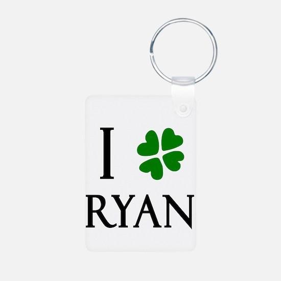 """I Heart/Luck Ryan"" Keychains"