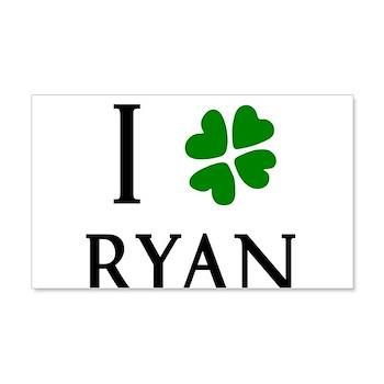 """""""I Heart/Luck Ryan"""" 22x14 Wall Peel"""