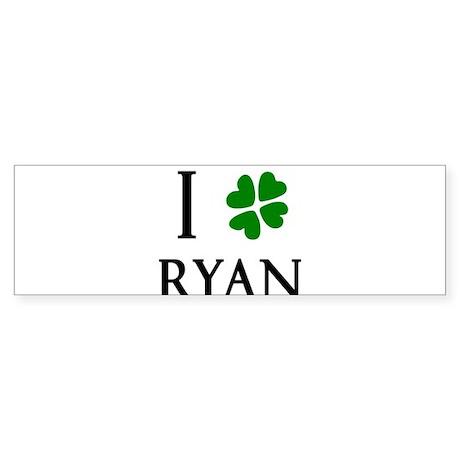 """""""I Heart/Luck Ryan"""" Sticker (Bumper)"""