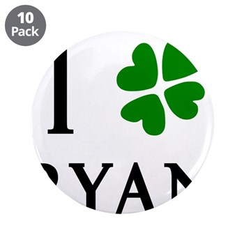 """""""I Heart/Luck Ryan"""" 3.5"""" Button (10 pack)"""