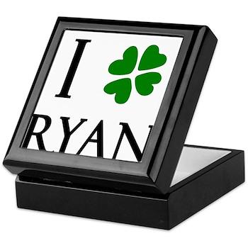 """I Heart/Luck Ryan"" Keepsake Box"