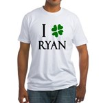 """I Heart/Luck Ryan"" Fitted T-Shirt"