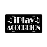 Accordion iPlay Music License Plate