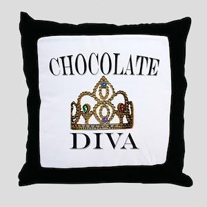 Chocolate Diva Throw Pillow