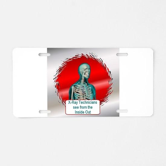 Radiologists Aluminum License Plate