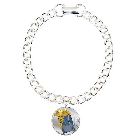 Caduceous Charm Bracelet, One Charm