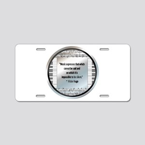 Victor Hugo Aluminum License Plate