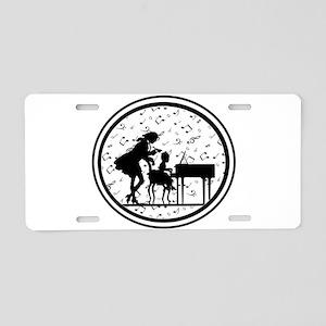 Piano Teacher Aluminum License Plate