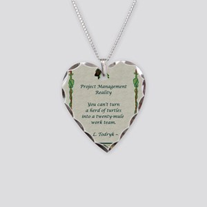 Project Managers Necklace Heart Charm