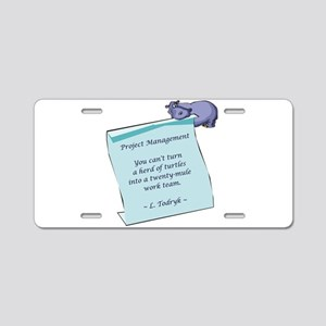 Project Managers Aluminum License Plate