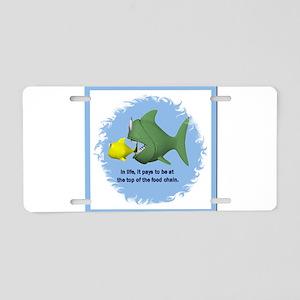 Food Chain Aluminum License Plate