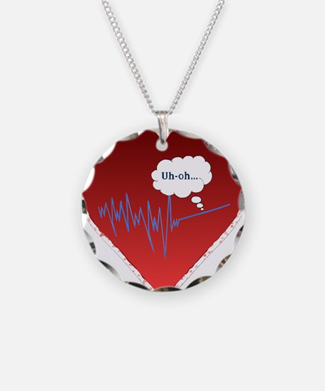 Uh Oh FlatlineTri-v Necklace