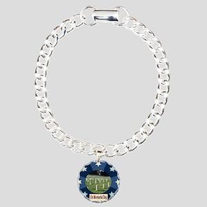 Veterans Day Charm Bracelet, One Charm
