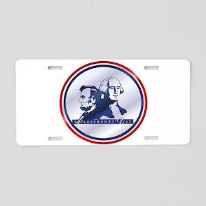 President's Day Aluminum License Plate