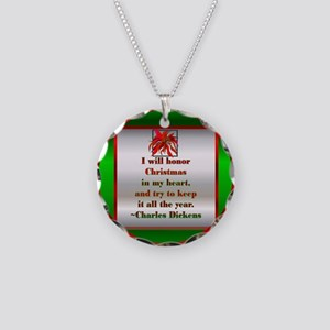 Dickens Necklace Circle Charm