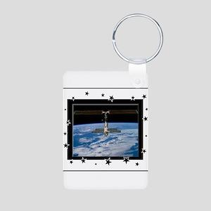 Space Station Aluminum Photo Keychain