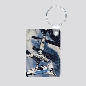 International Space Station Aluminum Photo Keychai