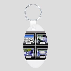 Hurricane Aluminum Oval Keychain