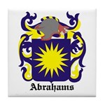 Abrahams Coat of Arms Tile Coaster