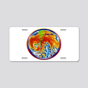 Hurricane Bertha Aluminum License Plate