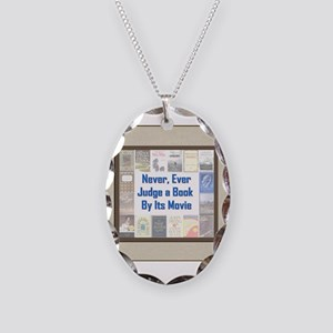 Book vs. Movie Necklace Oval Charm