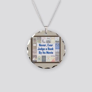 Book vs. Movie Necklace Circle Charm