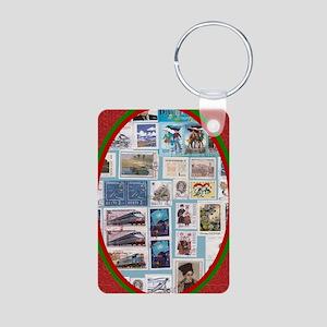 Philatelist Aluminum Photo Keychain