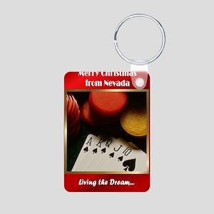 Poker Aluminum Photo Keychain