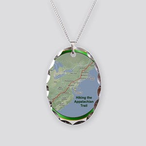 Hiked the A.T. Necklace Oval Charm