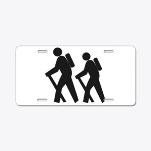 Hiking2 Aluminum License Plate