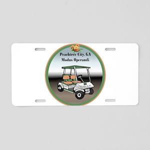 Peachtree City Aluminum License Plate