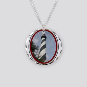 St. Augustine Necklace Circle Charm
