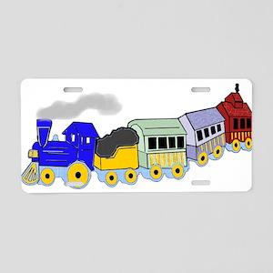 Choo Choo Train Aluminum License Plate