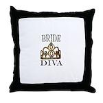 BRIDE DIVA Throw Pillow