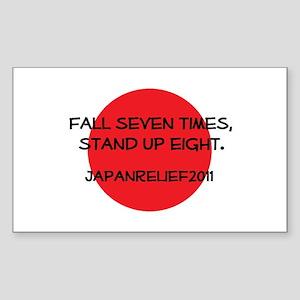 Fall Seven Times, Stand Up Eight - Sticker (Rectan