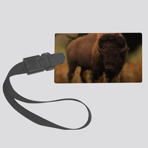 Powerful Bison Large Luggage Tag